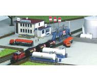 модель Kibri 36727 Office Building w/Fuel Tanks -- 10 x 6.55 x 5cm / 12 x 2.5 x 4 см. Набор для сборки.