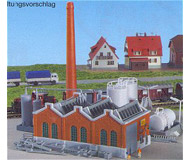 модель Kibri 36764 Warehouse Building - Includes Smoke Stack & Storage Tanks