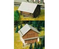 модель Kibri 36817 Stable with Barn in Elm -- 7 x 5.5 x 4cm; 4.5 x 4 x 3 см. Набор для сборки.