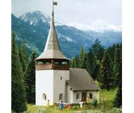 модель Kibri 37031 Village Church in Sertig. Размер 9.5 x 7.5 x 13 см. Набор для сборки.