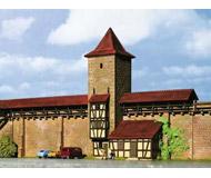 модель Kibri 37108 Rothenburg City Wall w/Tower -- Kit. Размер 23 x 6 x 14 см. Набор для сборки.