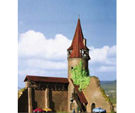 модель Kibri 37109 Round Tower with Wall in Marktbreit. Размер 17 x 14 x 20 см. Набор для сборки.