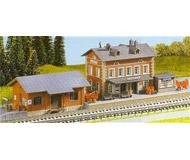 модель Kibri 37396 Rauenstein Station w/Freight House - Kit (Plastic)