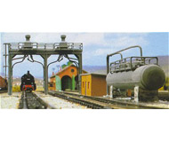 модель Kibri 37444 2-Track Sanding & Fuel Tower - Kit (Plastic)