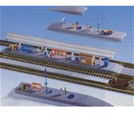 модель Kibri 37503 Freiburg Station Platform. Размер   66 x 2.5 x 3.6 см. Набор для сборки.