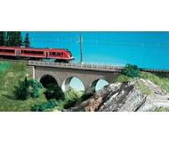 модель Kibri 37660 Straight Stone Viaduct -- Gray. Размер 18.7 x 3.8 см. Набор для сборки.