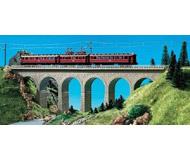 модель Kibri 37663 River Valley Single Track Viaduct w/Ice Breaker Piers. Размер 34.8 x 3.8 см. Набор для сборки.