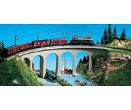 модель Kibri 37664 Single Track Curved Stone Viaduct w/Ice Breaker Piers. Размер 26 x 3.8 см. Набор для сборки.