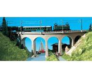 модель Kibri 37665 Single Track Curved Stone Viaduct w/Ice Breaker Piers. Размер 31 x 3.8 см. Набор для сборки.