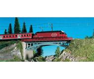модель Kibri 37668 Bridge w/End Supports, Single or Double Track. Размер 17.5 x 5 см. Набор для сборки.