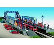 модель Kibri 37756 Goldberg Station Platform w/Pedestrian Overpass