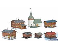 модель Kibri 38010 Sertig-Dorfli 7-Building Village Set -- Kit
