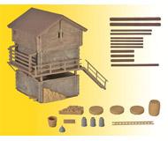 модель Kibri 38035 Wood Barn & Shed -- Kit. Размер 6.5 x 9.5 x 9 см. Набор для сборки.