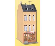 модель Kibri 38393 Stadthaus Cafe in Dusseldorf. Размер 7.5 x 9 x 20 см. Набор для сборки.