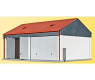 модель Kibri 38540 Truck Garage w/Opening Doors. Размер 17 x 12 x 9 см. Набор для сборки.