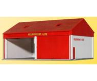 модель Kibri 38542 Small Fire Brigade Garage -- Kit. Размер 17 x 12 x 9 см. Набор для сборки.
