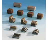 модель Kibri 38607 Assorted Cut Wood Loaded Pallets pkg(13)