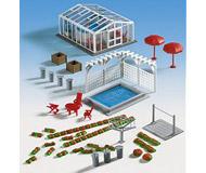модель Kibri 38614 Covered & Open Swimming Pools w/Backyard Accessories