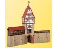 модель Kibri 38914 City Wall with Framework Tower in Weil. Размер 29 x 10 x 25 см. Набор для сборки.