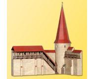 модель Kibri 38915 City Wall with Round Tower in Weil. Размер 25 x 13.5 x 27 см. Набор для сборки.