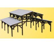 модель Kibri 39095 Wooden Shelter - Kit. Размер   12 x 10.5 x 6 см. Набор для сборки.