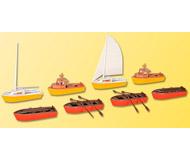 модель Kibri 39159 Assorted Boats -- (4) Rowing, (2) Motor, (2) Sailboats