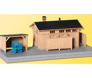 модель Kibri 39349 Lineside Building w/Hut -- 18 x 6.5 x 8 см. Набор для сборки.