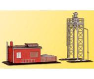 модель Kibri 39418 Steam Loco Sand Facility. Размер  14 x 7cm и   7 x 8.5 см. Набор для сборки.