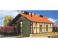 модель Kibri 39438 Locomotive Repair Shop. Размер  26 x 15 см. Набор для сборки.