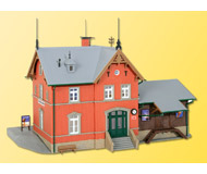 модель Kibri 39492 Reischelsheim Station. Размер 24 x 14 см. Набор для сборки.