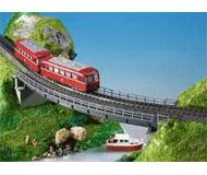 модель Kibri 39706 Curved Steel Girder Bridge -- Single Track,. Размер 28 x 7 x 3cm,   35.7cm radius, 45 deg