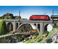 модель Kibri 39720 Viaduct Stone Arch Bridge -- Single Track. Размер 58.4 x 7 x 12 см. Набор для сборки.