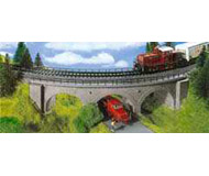 модель Kibri 39722 Curved Stone Arch Bridge w/Ice-Breaker Columns -- Single Track 45 Degrees. Размер 32 x 8 x 6.5 см. Набор для сборки.