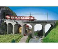 модель Kibri 39725 Curved Stone Viaduct - R1  - Single Track 90 Degrees (357-360mm) 60 x 8 x 17 см. Набор для сборки.