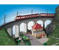 модель Kibri 39726 Curved Stone Viaduct - R2 -- Single Track 90 Degrees (415-425mm) 71 x 8 x 17 см. Набор для сборки.