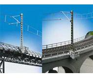 модель Kibri 39754 Console Carrier w/Railing For Overhead Line Masts -- 4 for Concrete & 4 for Steel Bridges (8 Pieces)