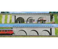 модель Kibri 39755 Arcades -- 1 w/Built-In Shops & 1 w/Brick