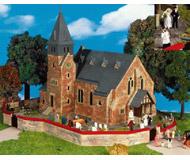 модель Kibri 39766 Westerwald Church w/Wall - Kit -- Includes: 9765 & 8657