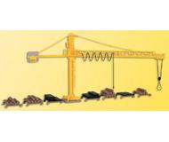 модель Kibri 39817 Timber Yard & Crane -- 26 x 3.5 x 13.5 см. Набор для сборки.