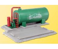 модель Kibri 39932 Schwarz Concrete Works Fuel Tank. Размер 11 x 10.5 x 4 см. Набор для сборки.