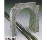 модель Kibri 4105 Портал 2-х путный с имитацией туннеля высотой 10,5 см. Набор для сборки.