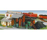 модель Kibri 59442 Угольный склад. Размер 27 х15 см, высота 9.5 см