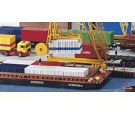 модель Kibri 8522 Контейнерная баржа, 28x9x2,3 cm.