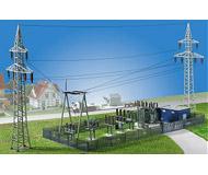 модель Kibri 8531 Электростанция 40 x 20  см. Набор для сборки.
