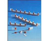 модель Kibri 8630 Деревянный забор с 3 двойными воротами и кирпичными столбамиL77см.,HO