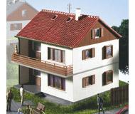 """модель Kibri 8723 Двухэтажный дом """"Riedelstrabe"""". размер 10.5 х 9.5 см. высота 10 см"""