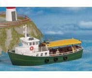 модель Kibri 9158 Речное пассажирское судно, 18,2х6,2х8,7  см. Набор для сборки.