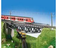 модель Kibri 9703 Стальной однопутный мост с ездой по низу 34 x 6,5 x 8