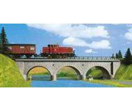 модель Kibri 9721 Однопутный каменный арочный мост, 34х8х6,8  см. Набор для сборки.