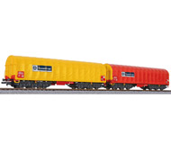 """модель Liliput L230153 Набор из двух шестиосных товарных вагонов """"ThyssenKrupp"""". Эпоха VI"""